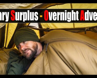 ️Overnight Camp in the World's Rarest Military Tent