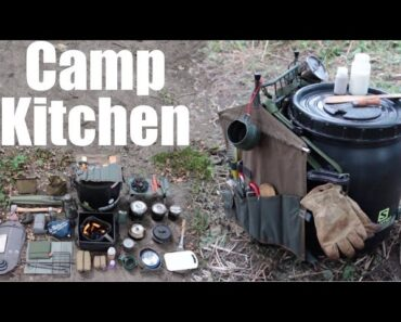 Camp Kitchen. My Cooking Gear for Camping and Canoe Trips.