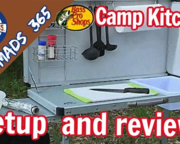 Bass Pro Deluxe Camp Kitchen Set Up & Review