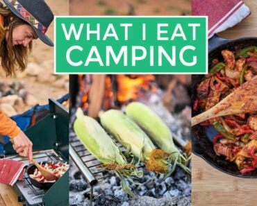 What I Eat In A Day CAMPING