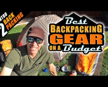 BEST BUDGET Backpacking Gear REVIEW! Complete Set Up