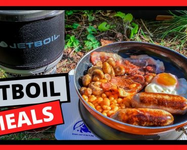 Camping Stove Meals. Cooking a full English breakfast with a
