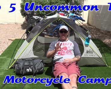 Top Five Uncommon Motorcycle Camping Tips