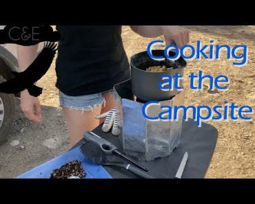 Cooking a Simple Dinner While Camping